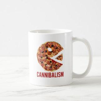 Cannibalism Pizza Eat Funny Food Coffee Mug