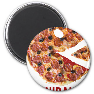 Cannibalism Pizza Eat Funny Food Magnet