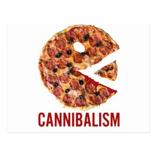Cannibalism Pizza Eat Funny Food Postcard