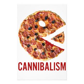 Cannibalism Pizza Eat Funny Food Stationery