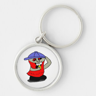 Cannibalism Silver-Colored Round Keychain