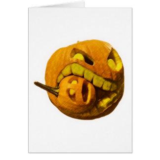Cannibalistic Pumpkin Card