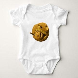 Cannibalistic Pumpkin - Vintage Design Baby Bodysuit