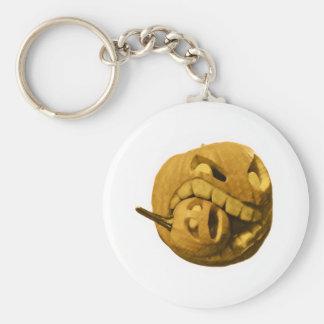 Cannibalistic Pumpkin - Vintage Design Basic Round Button Keychain