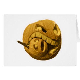 Cannibalistic Pumpkin - Vintage Design Card