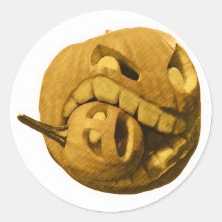 Cannibalistic Pumpkin - Vintage Design Classic Round Sticker
