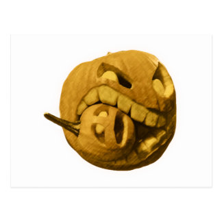 Cannibalistic Pumpkin - Vintage Design Postcard