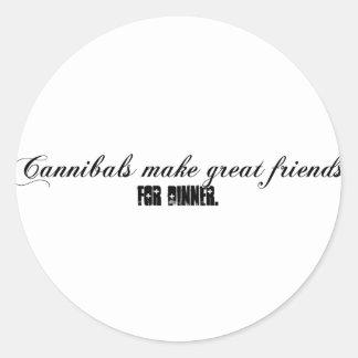 cannibals classic round sticker