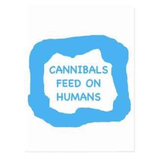 Cannibals feed on humans .png postcard