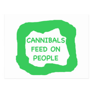 Cannibals feed on people .png postcard