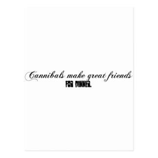 cannibals postcard