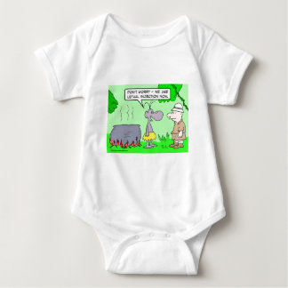 Cannibals use lethal injection now. baby bodysuit