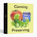 Canning and Preserving Design Avery Binder