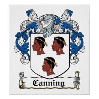 Canning Family Crest Poster