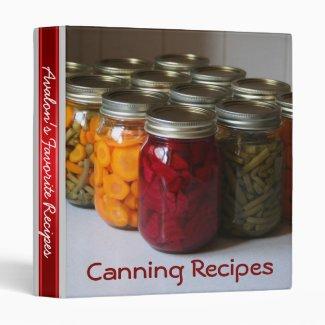 Canning Favorite Recipe Binder