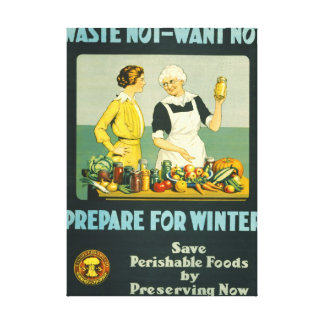 Canning Foods 1914 Canvas Print