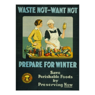 Canning Foods 1914 Poster