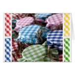 Canning Gingham Note Cards