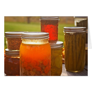 Canning in Autumn Card