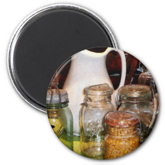 Canning Jar With Corn Magnets
