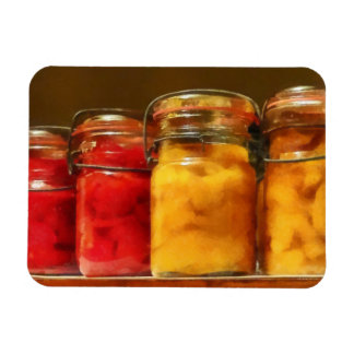 Canning Jars of Tomatoes and Peaches Rectangle Magnet