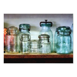 Canning Jars on Shelf Announcements