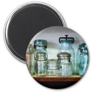 Canning Jars on Shelf Fridge Magnets