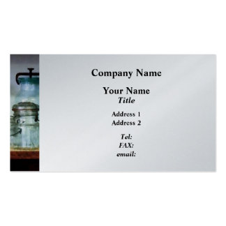 Canning Jars on Shelf - Platinum Finish Double-Sided Standard Business Cards (Pack Of 100)