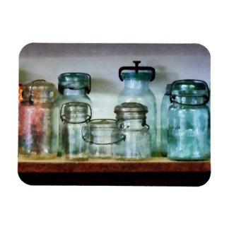 Canning Jars on Shelf Rectangular Magnet