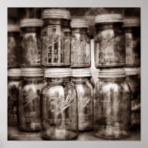 Canning Jars Square Print