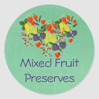 Canning Label for Mixed Fruit Preserves