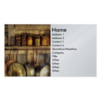 Canning - Old country kitchen Business Cards