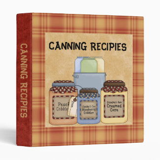 Canning recipies Binder