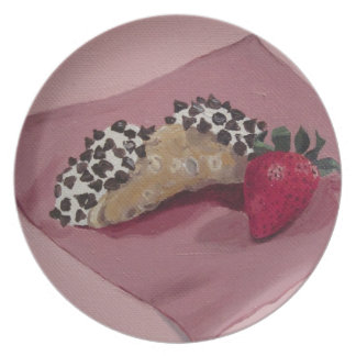 Cannoli Painting Plate