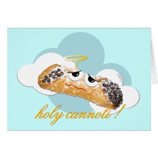 """""""cannoli santo!""""  tarjeta chistosa de la parodia"""