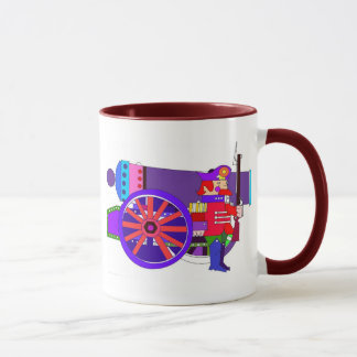 CANNON AND SOLDIER MUG