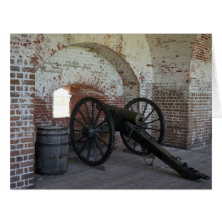 Cannon at Fort Pulaski Card