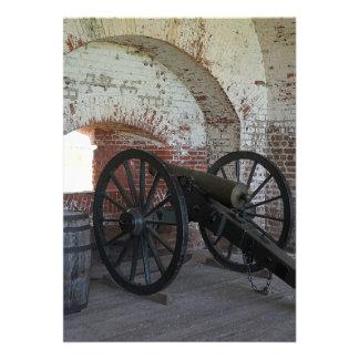 Cannon at Fort Pulaski Card