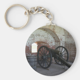 Cannon at Fort Pulaski Keychain