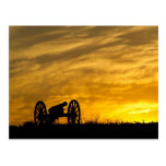 Cannon at sunset, Antietam National Battlefield Post Card