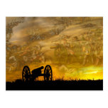 Cannon at sunset, Antietam National Battlefield Post Cards