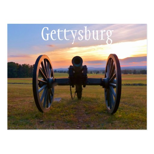 Cannon at Sunset, Gettysburg NMP Postcard