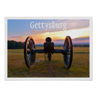 Cannon at Sunset, Gettysburg NMP Poster