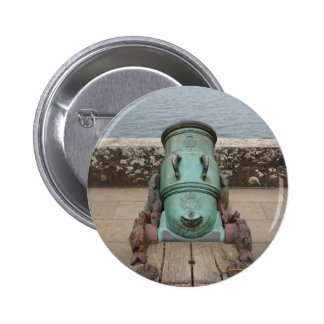 cannon badge pinback button