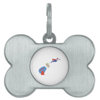 Cannon Ball Man Pet Tag