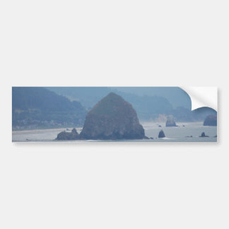 Cannon Beach Haystack in the mist Bumper Sticker