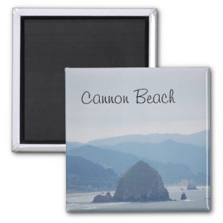 Cannon Beach Haystack in the mist Magnet