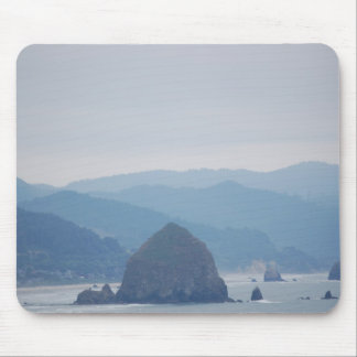 Cannon Beach Haystack in the mist Mouse Pad