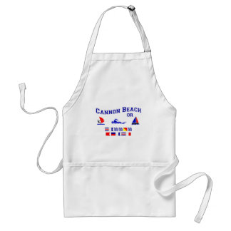 Cannon Beach OR Signal Flags Adult Apron