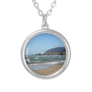 Cannon Beach Round Pendant Necklace